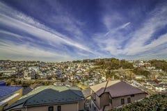 Σπίτια λόφων της Ιαπωνίας ` s Στοκ Εικόνα