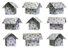 σπίτια δολαρίων Στοκ φωτογραφία με δικαίωμα ελεύθερης χρήσης