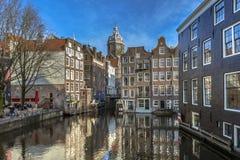 Σπίτια Armbrug Άμστερνταμ καναλιών Στοκ Εικόνες
