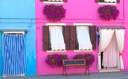 Σπίτια Burano Στοκ φωτογραφία με δικαίωμα ελεύθερης χρήσης