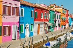 Σπίτια Burano Στοκ εικόνα με δικαίωμα ελεύθερης χρήσης