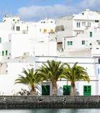 Σπίτια Charco de SAN Gines, Arrecife, Στοκ φωτογραφία με δικαίωμα ελεύθερης χρήσης