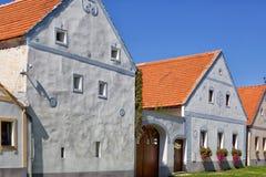 Σπίτια Holasovice στοκ φωτογραφία