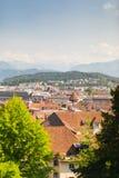 Σπίτια Luzern στοκ εικόνα με δικαίωμα ελεύθερης χρήσης