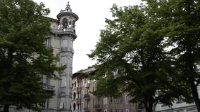 Σπίτια Nouveau τέχνης στο Τορίνο: Palazzo del Faro απόθεμα βίντεο