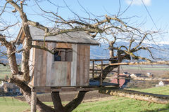 Σπίτι δέντρων - εξοχικό σπίτι - αγρόκτημα Στοκ Φωτογραφίες