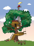 Σπίτι δέντρων απεικόνιση αποθεμάτων