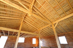σπίτι έξι ξύλινο Στοκ φωτογραφία με δικαίωμα ελεύθερης χρήσης