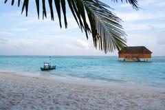 Σπίτι αγάπης στα maldivian νησιά Στοκ Εικόνα