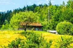 Σπίτι από έναν ξύλινο φράκτη Στοκ φωτογραφίες με δικαίωμα ελεύθερης χρήσης