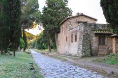 Σπίτι από Appian Way (μέσω Appia) στη Ρώμη, Ιταλία Στοκ Εικόνα