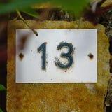 Σπίτι αριθμός δέκα τρία 13 Στοκ φωτογραφία με δικαίωμα ελεύθερης χρήσης