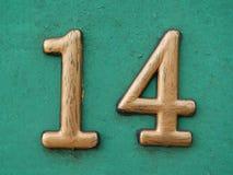 Σπίτι αριθμός δεκατέσσερα στοκ φωτογραφίες με δικαίωμα ελεύθερης χρήσης