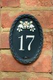 Σπίτι αριθμός 17 σημάδι Στοκ Εικόνα