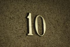 Σπίτι αριθμός 10 στο χρυσό Στοκ φωτογραφία με δικαίωμα ελεύθερης χρήσης