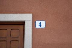 Σπίτι αριθμός τέσσερα Στοκ φωτογραφίες με δικαίωμα ελεύθερης χρήσης