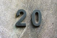 Σπίτι αριθμός 20 στοκ εικόνες με δικαίωμα ελεύθερης χρήσης