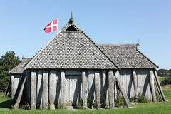 Σπίτι Βίκινγκ σε Hobro Στοκ εικόνες με δικαίωμα ελεύθερης χρήσης