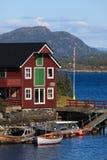 σπίτι βαρκών νορβηγικά Στοκ φωτογραφία με δικαίωμα ελεύθερης χρήσης