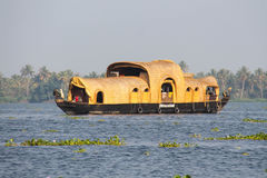 Σπίτι βαρκών σε Kumarakom, Κεράλα Στοκ Εικόνες