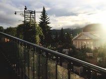 Σπίτι γυαλιού με το φως και τη σκιά Στοκ εικόνες με δικαίωμα ελεύθερης χρήσης
