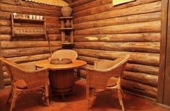 σπίτι γωνιών ξύλινο Στοκ Εικόνες