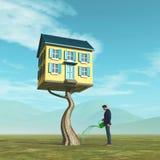 Σπίτι δέντρων - ακίνητη περιουσία απεικόνιση αποθεμάτων