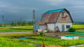 Σπίτι εξοχικών σπιτιών με έναν κήπο στοκ φωτογραφία με δικαίωμα ελεύθερης χρήσης