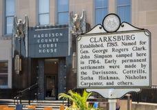 Σπίτι Επαρχιακού Δικαστηρίου στη δυτική Βιρτζίνια του Κλάρκσμπουργκ Στοκ φωτογραφία με δικαίωμα ελεύθερης χρήσης