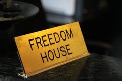 Σπίτι ελευθερίας οργάνωσης σημαδιών Στοκ φωτογραφίες με δικαίωμα ελεύθερης χρήσης