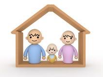 σπίτι ζευγών μωρών διανυσματική απεικόνιση