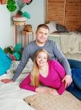 σπίτι ζευγών Στοκ εικόνες με δικαίωμα ελεύθερης χρήσης