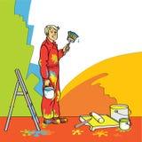Σπίτι-ζωγράφος διανυσματική απεικόνιση