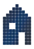 Σπίτι ηλιακού πλαισίου Στοκ Εικόνα