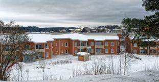 Σπίτι διαμερισμάτων στη Φινλανδία στοκ εικόνες