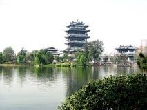 Σπίτι λιμνών Daming Jinan που αποσυνδέεται Στοκ φωτογραφία με δικαίωμα ελεύθερης χρήσης