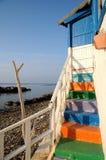 σπίτι Ιταλία παραλιών Στοκ φωτογραφία με δικαίωμα ελεύθερης χρήσης
