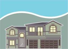 Σπίτι ιδιοκτησίας πολυτέλειας ελεύθερη απεικόνιση δικαιώματος