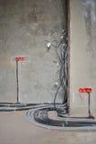 Σπίτι κάτω από την κατασκευή και την επισκευή στο σπίτι. Ηλεκτρική ενέργεια. Στοκ εικόνες με δικαίωμα ελεύθερης χρήσης