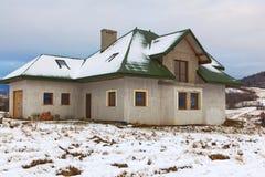 Σπίτι κάτω από την κατασκευή Στοκ φωτογραφίες με δικαίωμα ελεύθερης χρήσης