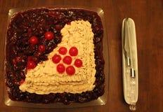 σπίτι κέικ που γίνεται Στοκ Φωτογραφία