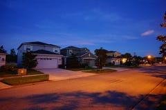 Σπίτι και νύχτα της Φλώριδας Στοκ Φωτογραφία