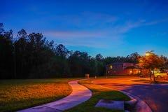 Σπίτι και νύχτα της Φλώριδας Στοκ φωτογραφίες με δικαίωμα ελεύθερης χρήσης