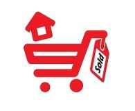 Σπίτι και σπίτι που πωλούνται απεικόνιση αποθεμάτων