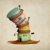 Σπίτι καπέλων φαντασίας ελεύθερη απεικόνιση δικαιώματος