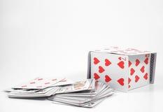 σπίτι καρτών Στοκ Φωτογραφίες