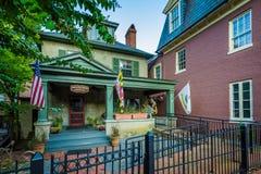 Σπίτι κατά μήκος του κρατικού κύκλου, σε Annapolis, Μέρυλαντ Στοκ εικόνες με δικαίωμα ελεύθερης χρήσης