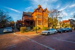 Σπίτι κατά μήκος του κρατικού κύκλου, σε Annapolis, Μέρυλαντ Στοκ Εικόνα