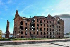 Σπίτι κατά τη διάρκεια του πολέμου, Stalingrad, Ρωσία στοκ εικόνες
