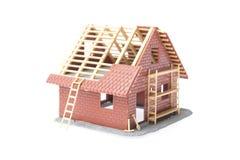 σπίτι κατασκευής κάτω Στοκ Εικόνες